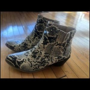 Chase + Chloe Snakeskin Ankle Boots
